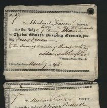 Image of Burial account records, interment orders. - 1848-1852