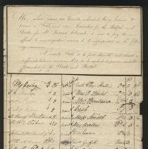 Image of Records of funds raised for special purposes, subscriptions, special furnishings for St. James. - 1814