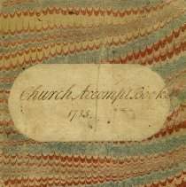 Image of Church Accompt Book 1785