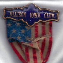 Image of 162.172 Wm B Allison ribbon and medallion
