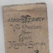 Image of 163.64 Vice President Grant memorial ribbon