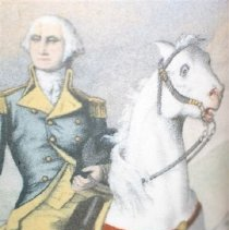 Image of 00842 Sand Painting - G. Washington detail