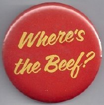 Image of 1987.63.206 Campaign button 1984 using pop culture slogan - W. Mondale