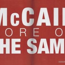 Image of 2008.86.14 B. Obama campaign poster - Anti-J. McCain 2008