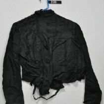 Image of 2081 Blouse, Black silk, front