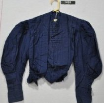 Image of 3499 Blouse, Dark Blue cotton, front