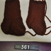 Image of 361 Stockings, knitted wool, brown
