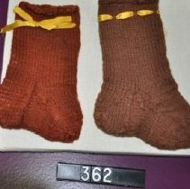 Image of 362 Stockings, knitted wool, light brown