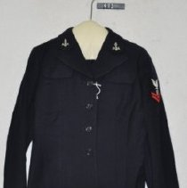 Image of 413 Jacket, Nacy Blue wool uniform of US Naval Reserve, front