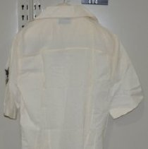 Image of 414 Shirt, White, attaches to US Naval uniform, back