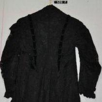 Image of 3261 f Dress, dress coat, black lace and taffeta, back