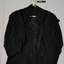 Image of 3261 f Dress, dress coat, black lace and taffeta, front