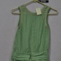 Image of 3290 Dress, Light green cotton, back