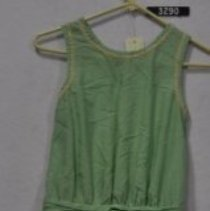 Image of 3290 Dress, Light green cotton, front