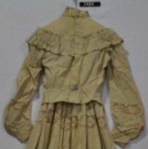 Image of 3494 Dress, tan linen, back