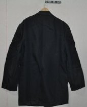 Image of 2000.33.145 Coat dark blue polyester with 2 buttons