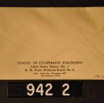 Image of 1995.2.942.2 Envelope, back