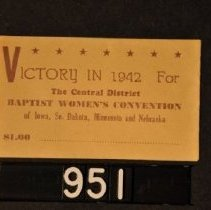 Image of 1995.2.951 Baptist Women's Convention envelope, 1942