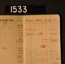 Image of 1995.2.1533 Savings Book, open