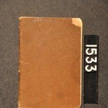 Image of 1995.2.1533 Savings Book , b ack