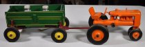 Image of 3309 Toy tractor and wagon