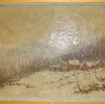 Image of Painting - Snow Scene in Catskills