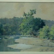 Image of Painting - Elkhorn Creek with Rocky Shoreline