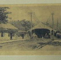 Image of Etching - The Covered Bridge
