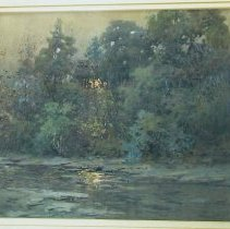 Image of Painting - A Pond in the Field