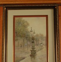 Image of Painting - Wapping Street Fountain