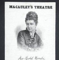 Image of Poster, Theater - Mrs. Rachel Macauley
