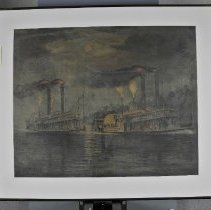 Image of Print - Celebrated Race of the Steamers Robert E. Lee and the Natchez