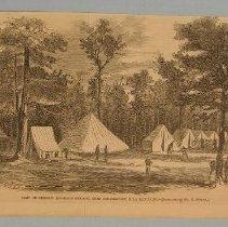 "Image of Print - Magazine illustration, ""Camp of Rosseau's Brigade"""