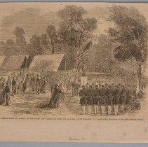 "Image of Print - Magazine illustration, ""Presentation of a flag to Ky Volunteers"""