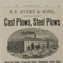 """Image of Ad, Print - Directory ad, """"B.F. Avery & Sons"""""""