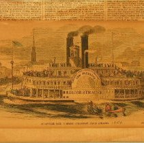 "Image of Print - ""Louisville Mail Company Steamboat Jacob Strader"""