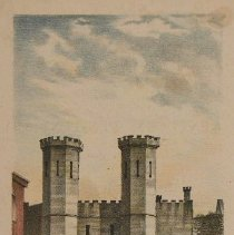 "Image of Print - ""View of Entrance to Kentucky Penitentiary"""