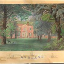 Image of Engraving - Ashland, The Homestead of Henry Clay