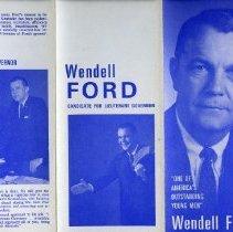Image of Handbill - Handbill, Wendell Ford Campaign.