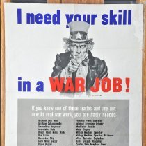 """Image of Poster - """"I need your Skill . . .""""."""