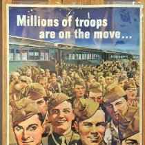 """Image of Poster - """"Millions of Troops are on the Move is your trip...?"""""""