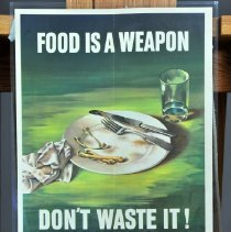 """Image of Poster - """"Food is a Weapon . . ."""""""