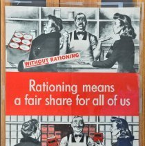 """Image of Poster - """"Rationing means a fair share . . ."""""""