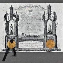 Image of Certificate - Knights Templar membership certificate