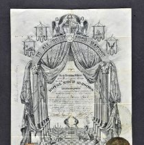 Image of Certificate - Royal Arch Masons membership certificate