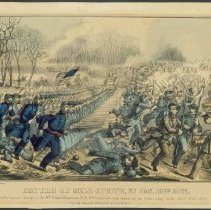 Image of Lithograph - Battle of Mill Spring Ky Jan. 19th 1862
