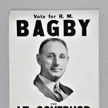 Image of Poster, Political - Vote R.M. Bagby for Lt. Governor