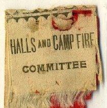 Image of Ribbon, Membership - UDC Halls & Campfire Committee Badge