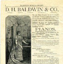 Image of Pamphlet - Booklet, Baldwin's Musical Review