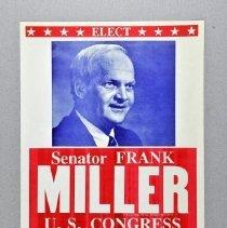 Image of Poster, Political - Senator Frank Miller